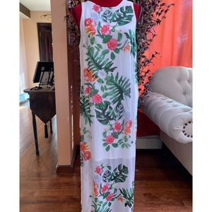 Vince Camuto Havana Tropical Maxi Dress